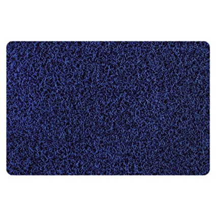 "Freelance PVC Door Mat - 15""x24"", Blue Rugs at amazon"