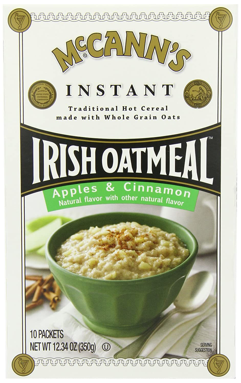 McCANN'S Instant Irish Oatmeal, Apple & Cinnamon, 12.3-Ounce Boxes (Pack of 6)