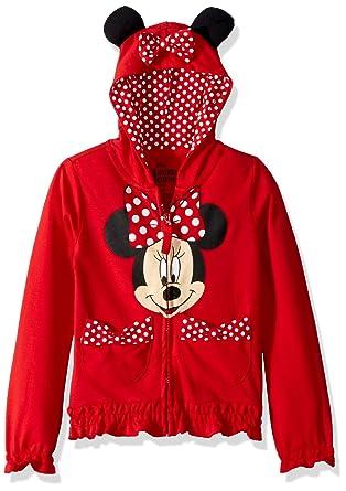 Amazon.com  Disney Girls  Minnie Polka-Dot Bow Hoodie  Clothing 588c7e00a