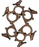 ITOS365 Handmade Songbird Bird on Tree Branch - Aluminium Metal Napkin Rings Holder for Dinning Table Parties Everyday, Set of 6
