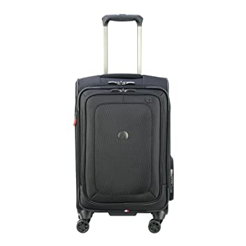 cab30f735531 DELSEY Paris Cruise Lite Softside Carry-On Exp. Spinner Suiter Trolley,  BLACK