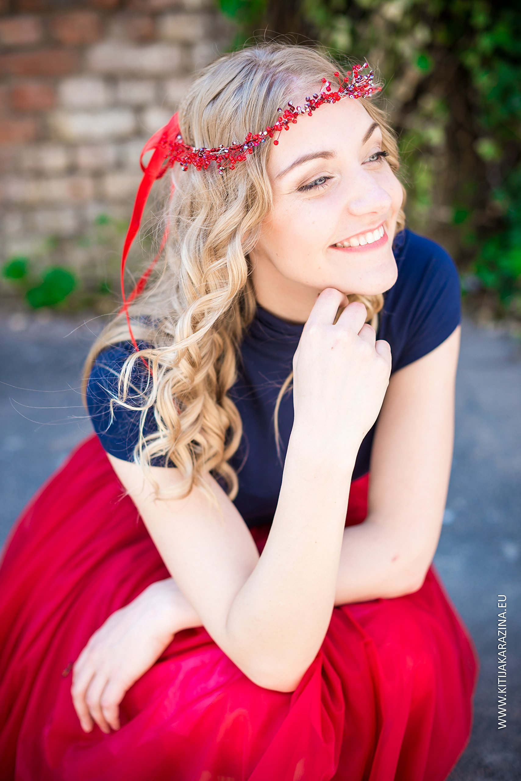 Red Beaded Crown