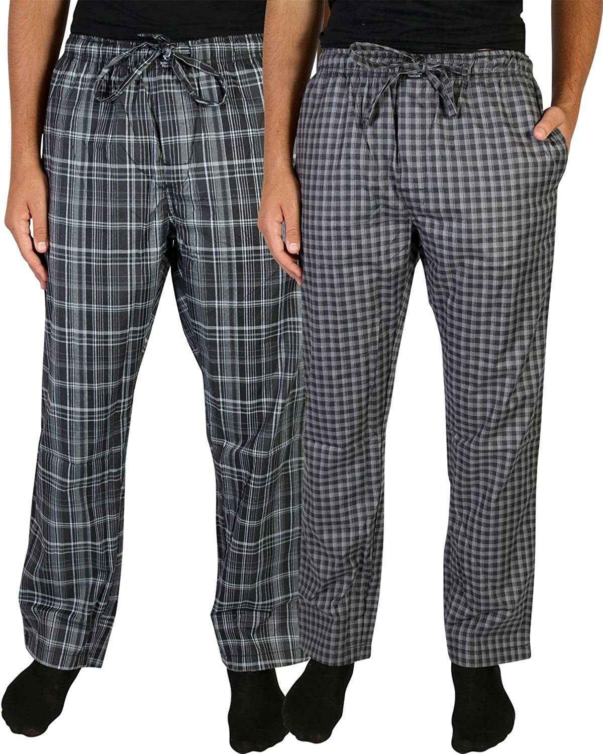 Beverly Hills Polo Club Men's Woven Plaid Sleep Lounge Pajama Pants (2-Pack)