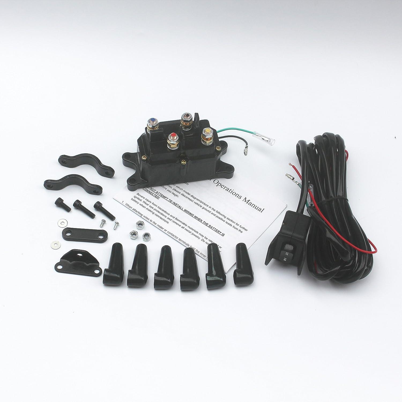 Amazon.com: KIPA Winch Solenoid Relay 12V 250A & Winch Rocker Thumb ...