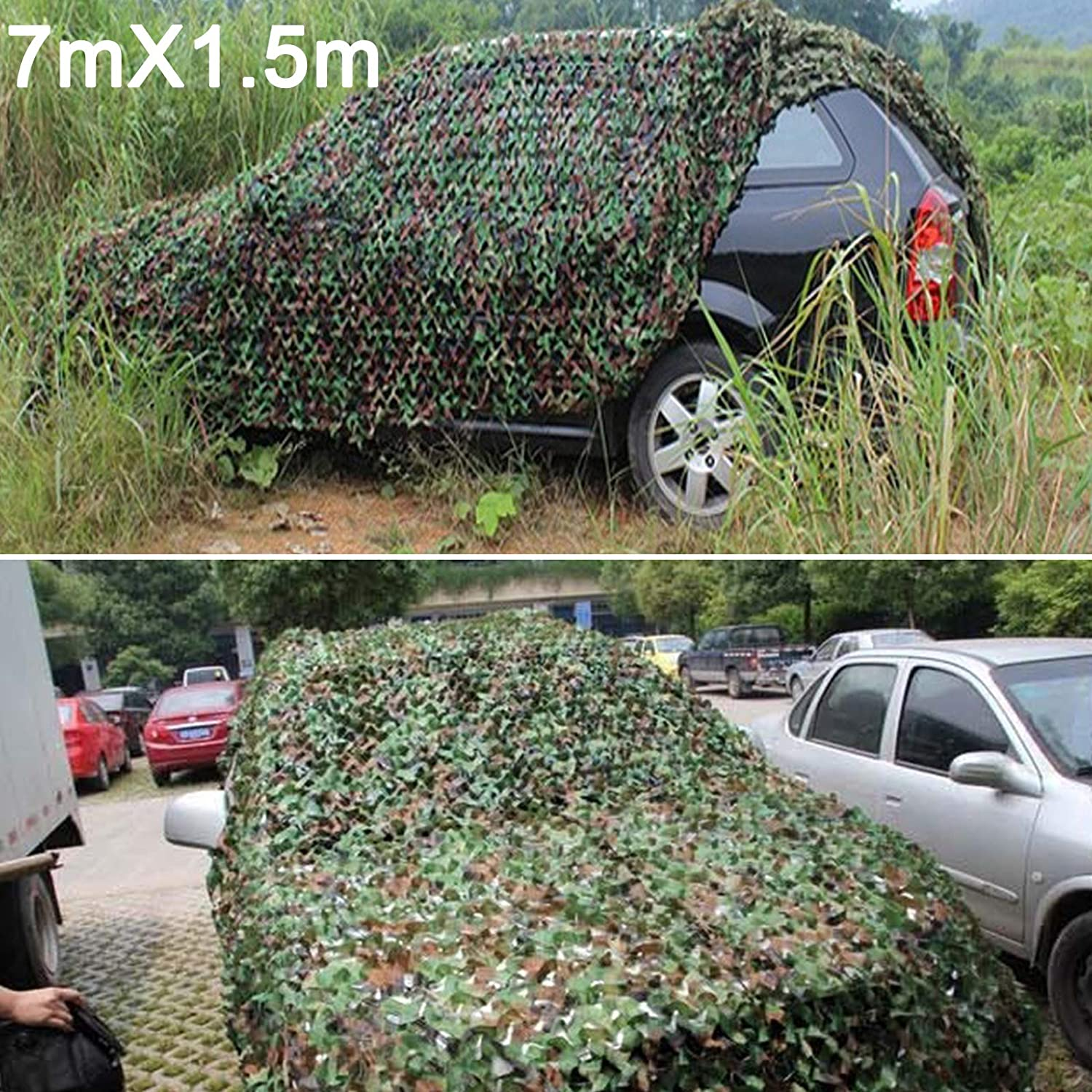 Coldshine 3m X 5m Woodenland Camouflage Net Camo Netting for Camping Hide