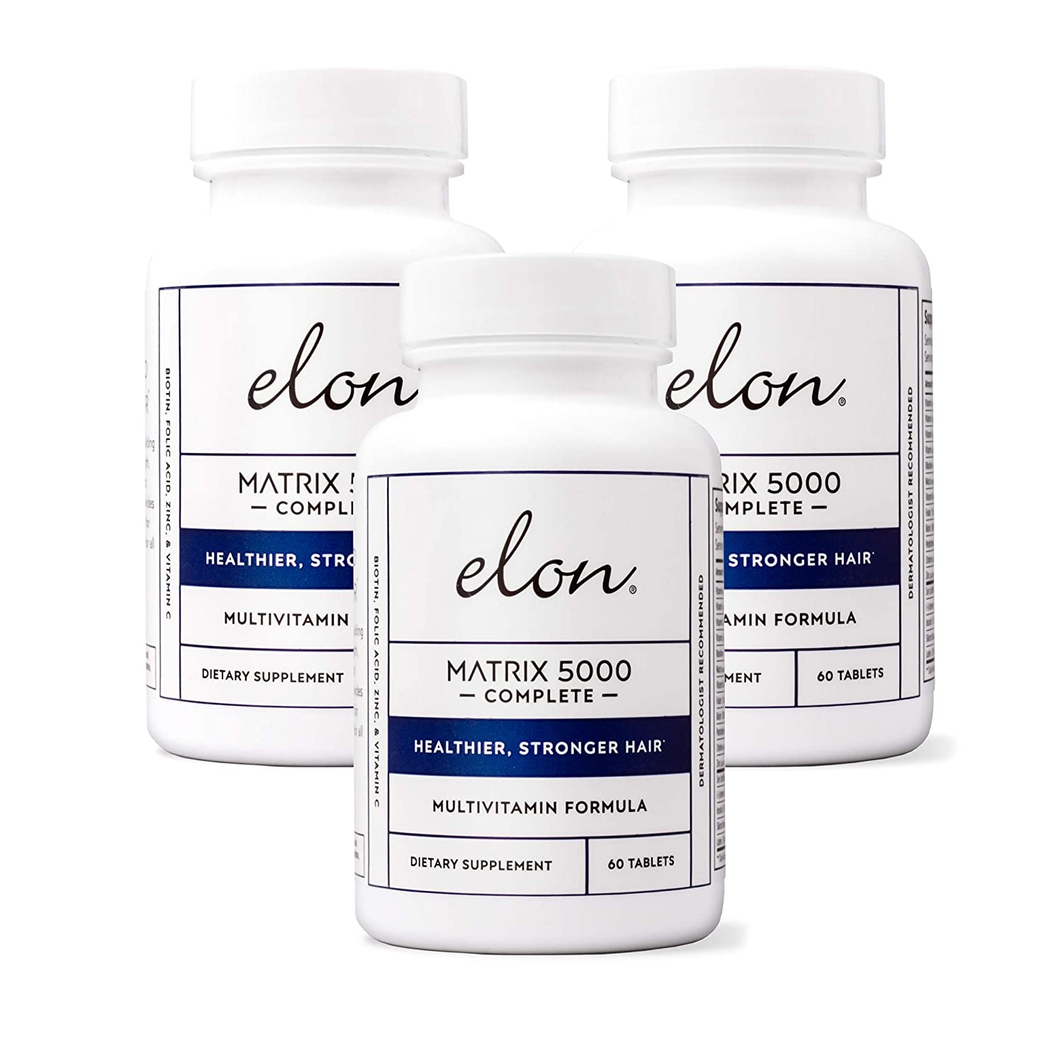 Elon Matrix 5,000 Complete Multi-Vitamin for Hair – 3 Pack