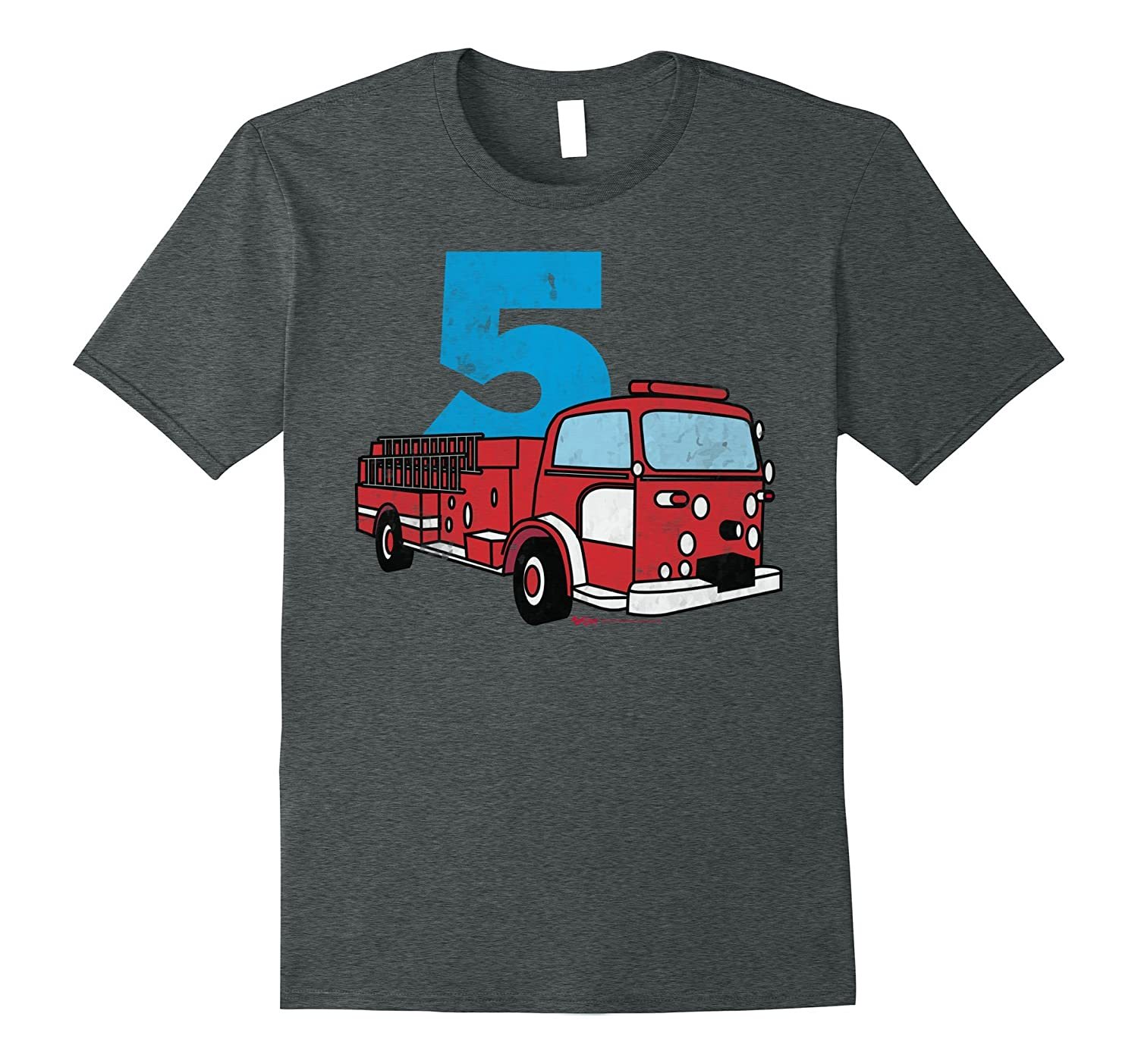 4th Fireman Happy Birthday T Shirt for Kid Boys and Girls-CL