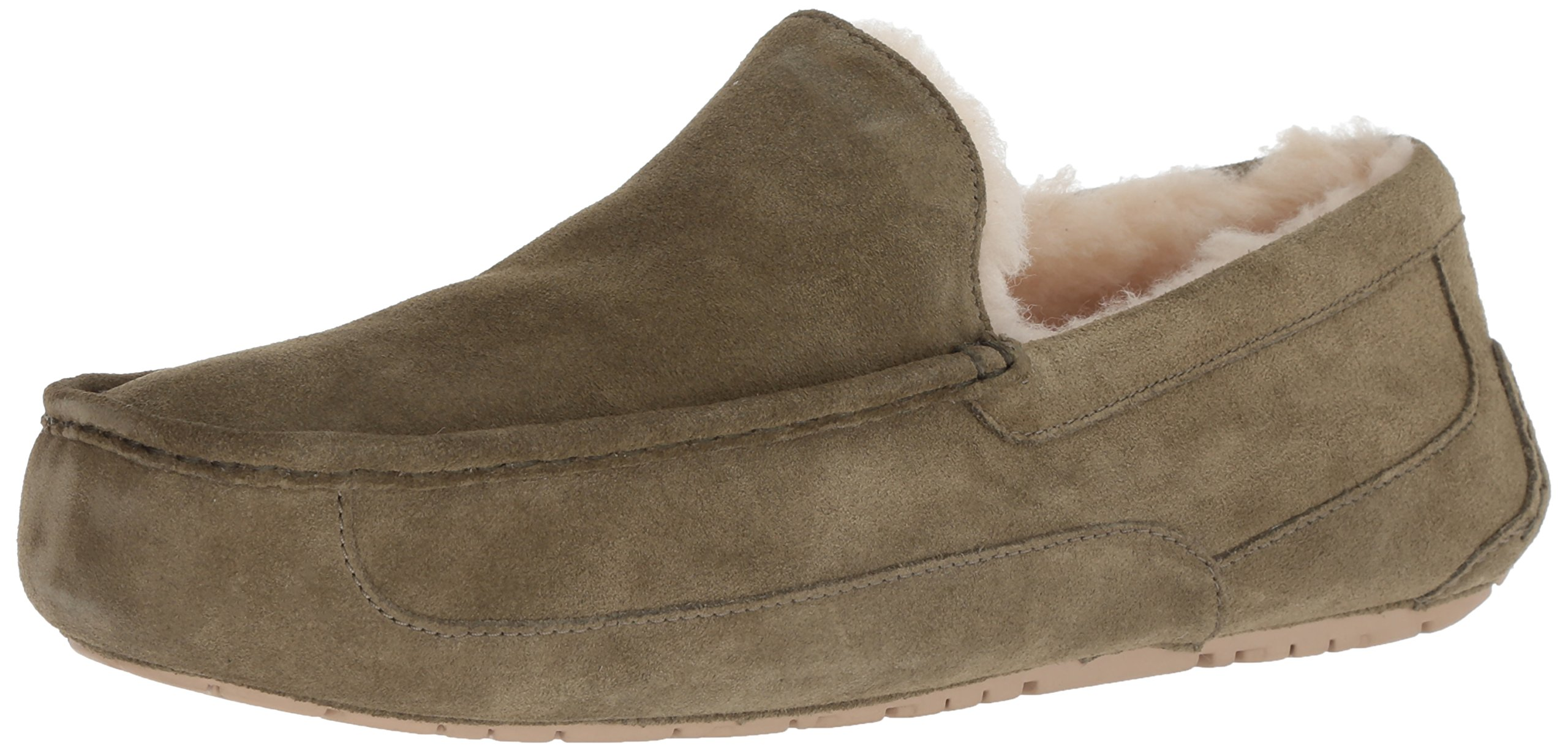 UGG Men's Ascot Slipper, Moss Green, 08 M US
