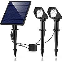 Luces Solares para Exterior, Ultra Potente Lámparas Solares Impermeable IP65, Focos LED Exterior con 3 modos luminosidad…