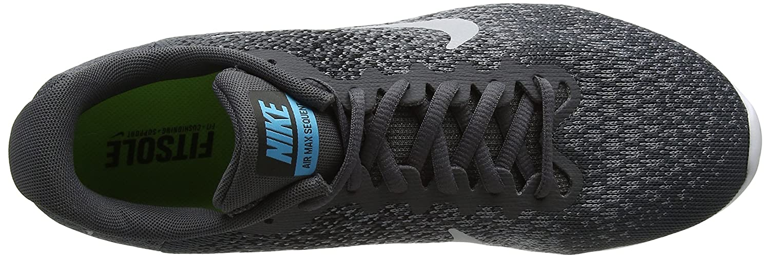 NIKE Men's Air Max Sequent 2 Running Shoe B01M2DD5KZ 13 D(M) US|Dark Grey Mtlc Silver Blk
