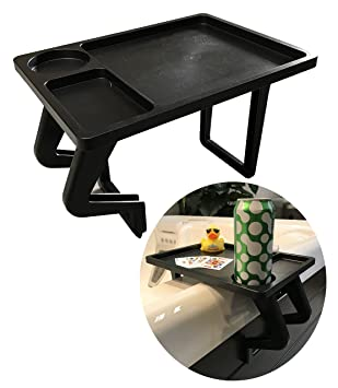 Essentials Hot Tub Aqua Tray Spa Side Drinks Table Black Amazon
