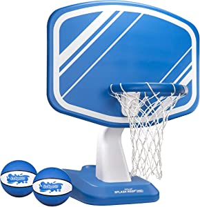 GoSports Splash Hoop PRO Swimming Pool Basketball Game, Includes Poolside Water Basketball Hoop, 2 Balls and Pump
