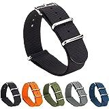 Gemony Nato Strap Bracelet de Montre Bande de Montre Watch Prime NATO Ballistic Nylon Bracelet 18mm/20mm/22mm