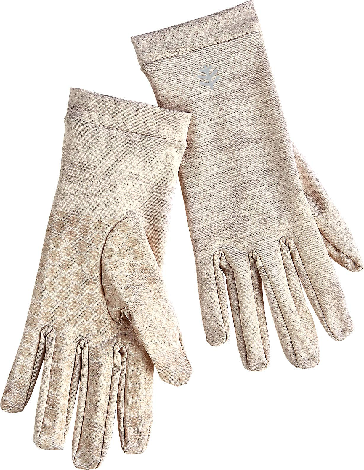 Coolibar UPF 50+ Unisex Sun Gloves - Sun Protective (Medium- Tan Coolibar Camo)