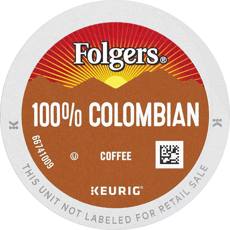 Folgers 100% Colombian Medium Roast Coffee, 96 K Cups for Keurig Coffee Makers