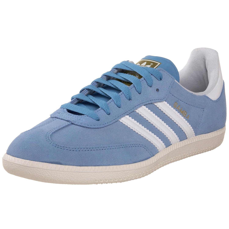 low priced 42b46 0b67e Amazon.com   adidas Originals Samba Suede Sneaker, Columbia  Blue White Chalk, 9 M   Fashion Sneakers