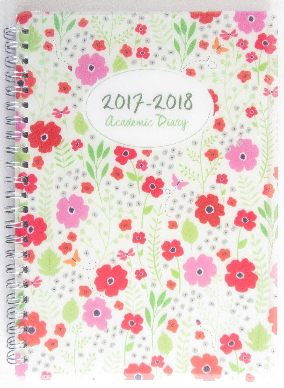 Agenda escolar 2017 – 2018 tamaño A5 de PVC (flores ...