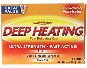Mentholatum Deep Heating Pain Relieving Rub 2oz Twin Pack - 1 Pack