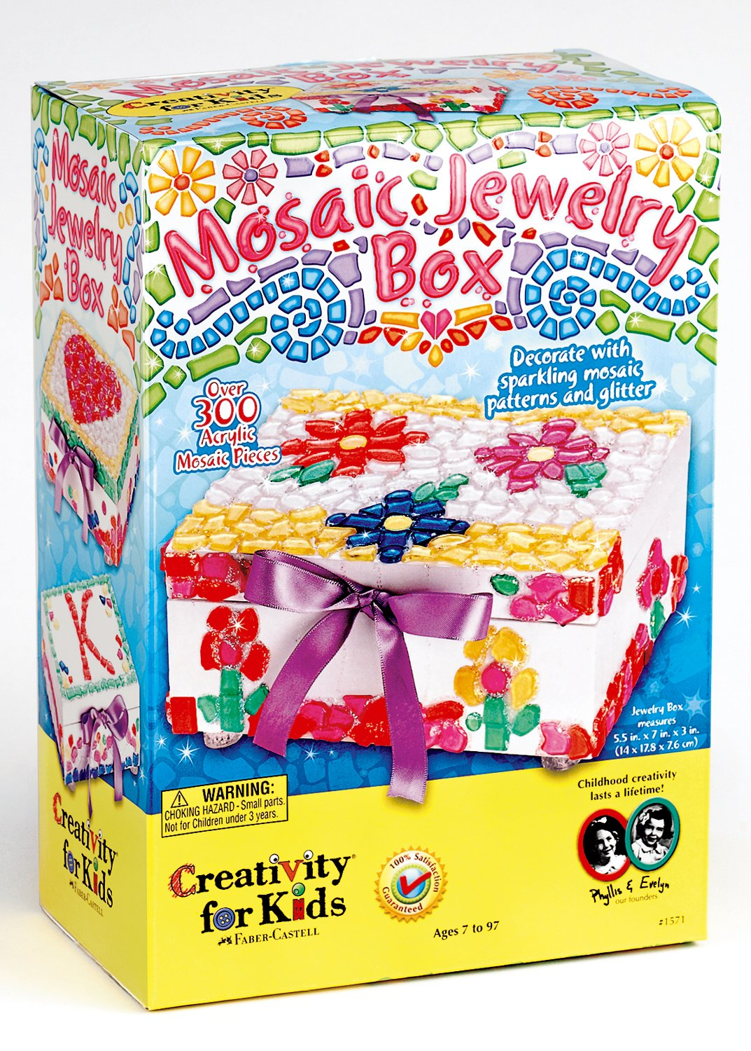 Amazoncom Creativity for Kids Mosaic Jewelry Box Toys Games