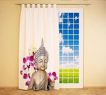 Amazon De Clever Kauf 24 Schlaufenschal Vorhang Gardine Buddha