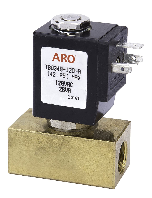 ARO TB034B-120-A 2-Way Valve Brass 3//8 NPT//120V