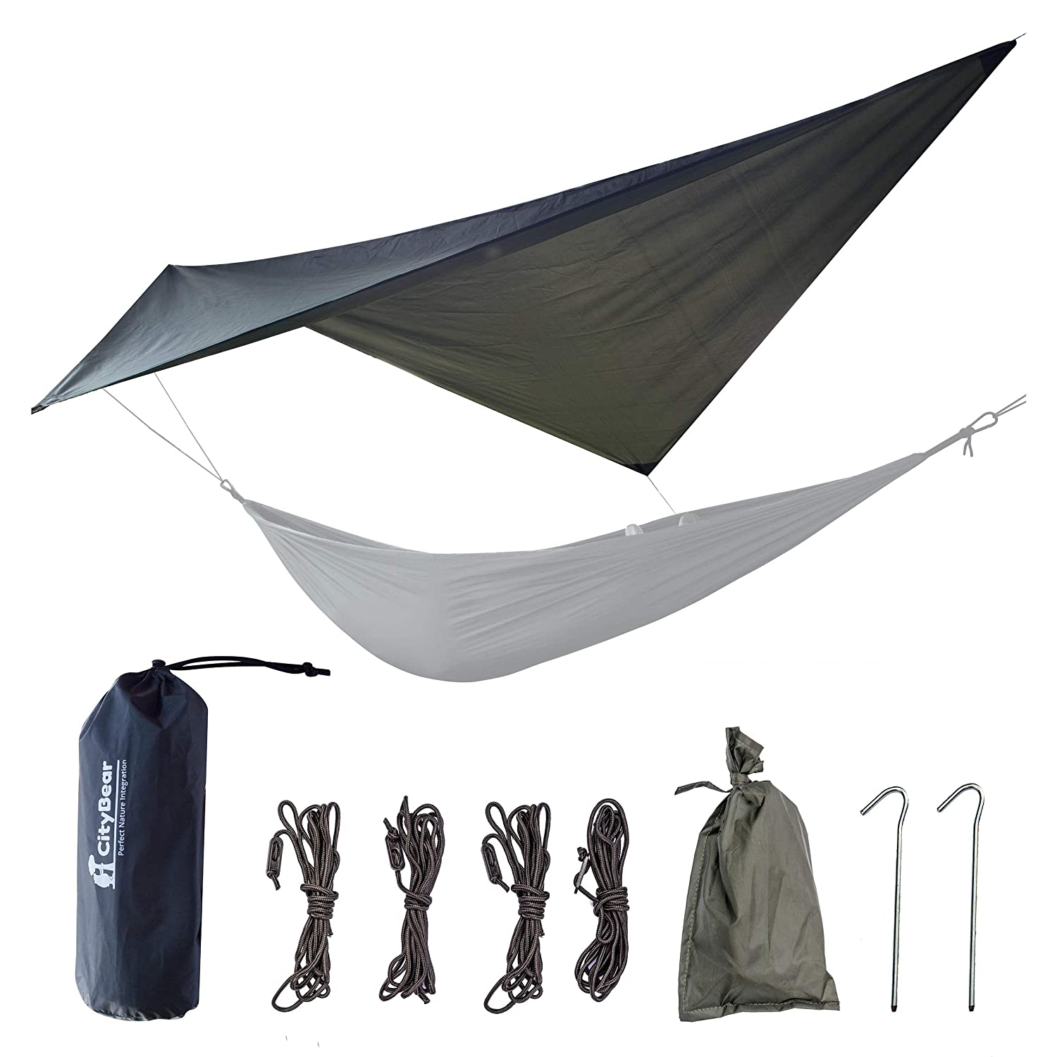 40250f20e9d Rain Fly Tent Tarp - Waterproof Lightweight Survival Gear Shelter for  Camping Backpacking and Outdoor Living