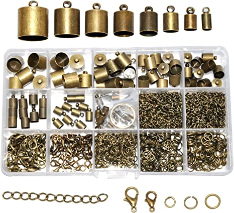 6 x 7 Row Ending Metal Finding End For Beading /& Jewellery Making Copper Tone
