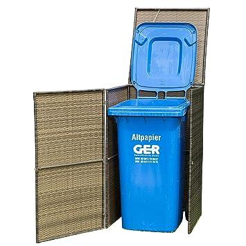 Mülltonnenbox Klein 66x64x109cm Für Tonnen Bis 120 Liter Stahl