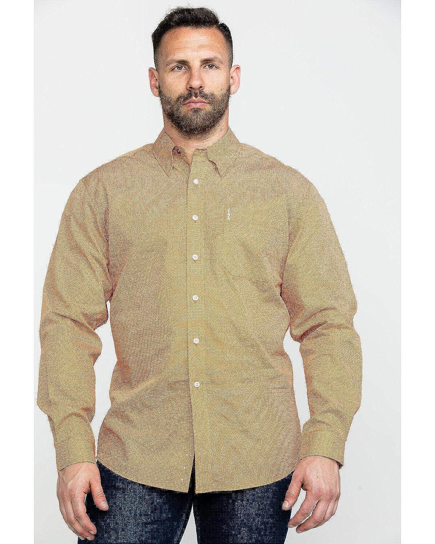 Cinch Mens Orange Geo Print Long Sleeve Western Shirt