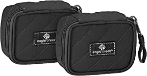 Eagle Creek Pack-It Original Quilted Mini Cube Set Packing Organizer, Black, Set of 2 (XS)