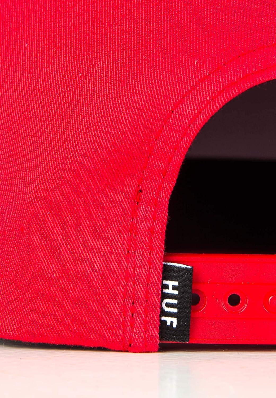 Rio Red HUF Essentials Box Snapback Cap