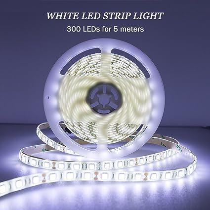 Amazon quntis led strip light 12v cool white waterproof led quntis led strip light 12v cool white waterproof led rope lights 164ft smd aloadofball Gallery