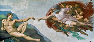 Creation of Adam by Michelangelo Picture on Stretched Canvas, Wall Art Décor, Ready to Hang!