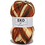 UTE - Pelote de laine à tricoter Eko fil color - OKE ! - Marron 316