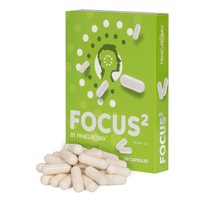 FOCUS² Caffeine Free Focus (FOCUS² concentración sin cafeína) y píldoras complementarias para la concentración - aumentan la energía mental y motivación, ...