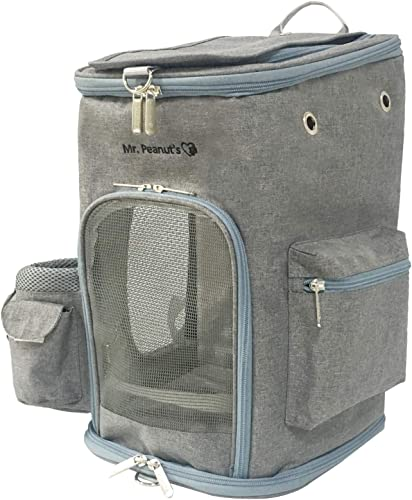 Mr. Peanut s Backpack Pet Carrier, Soft Sided Tote for Smaller Cats Dogs, Check Sizing Before Purchase, Premium Zippers, Self Locking Zippers Faux Fleece Padding
