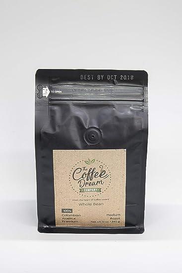 The Coffee Dream Co, (Whole Beans) Medium Roast Premium Coffee, Arabica  Single