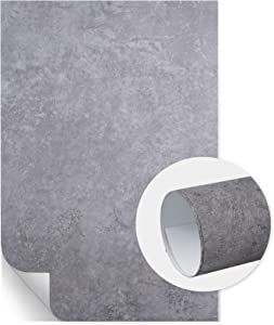 Meking 2x3ft PVC Backdrop for Photography, Vinyl Photo Background for Foodies, Blogger, Cake Shop, Product Advertisement, Restaurant Poster or Tabletop Flat Lay Shooting - 60x90cm Grey Cement