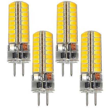 MENGS® 4 Stück GY6.35 6W LED Lampe 72x5730 SMD Kaltweiß 6500K AC/DC 12V Mit Silikon Mantel