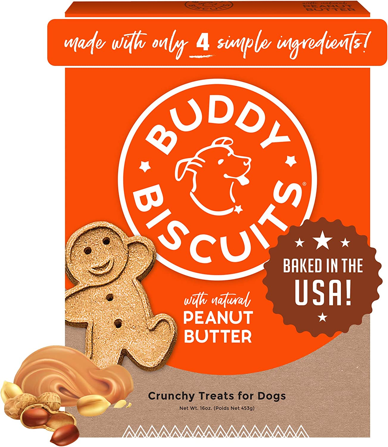 Buddy Biscuits Oven Baked Healthy Dog Treats, Crunchy, Whole Grain and Baked in the USA