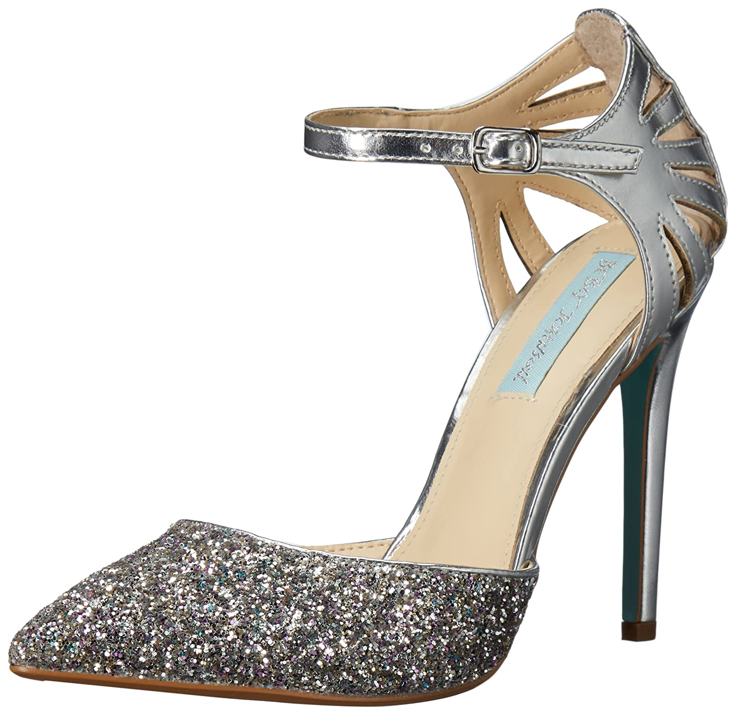 Blue by Betsey Johnson Women's Sb-Avery Dress Pump B06XRZTWKY 9 M US|Silver/Metallic