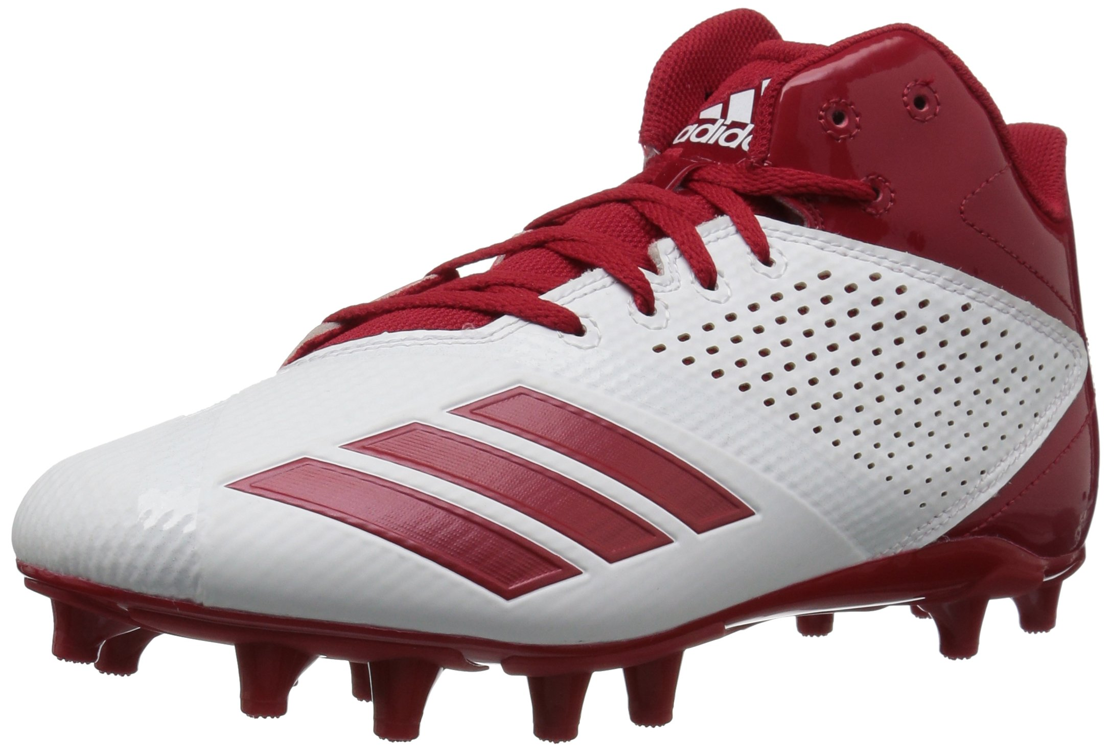 adidas Men's 5.5 Star Mid Football Shoe, Black/Power Red/Power Red, 8.5 M US by adidas