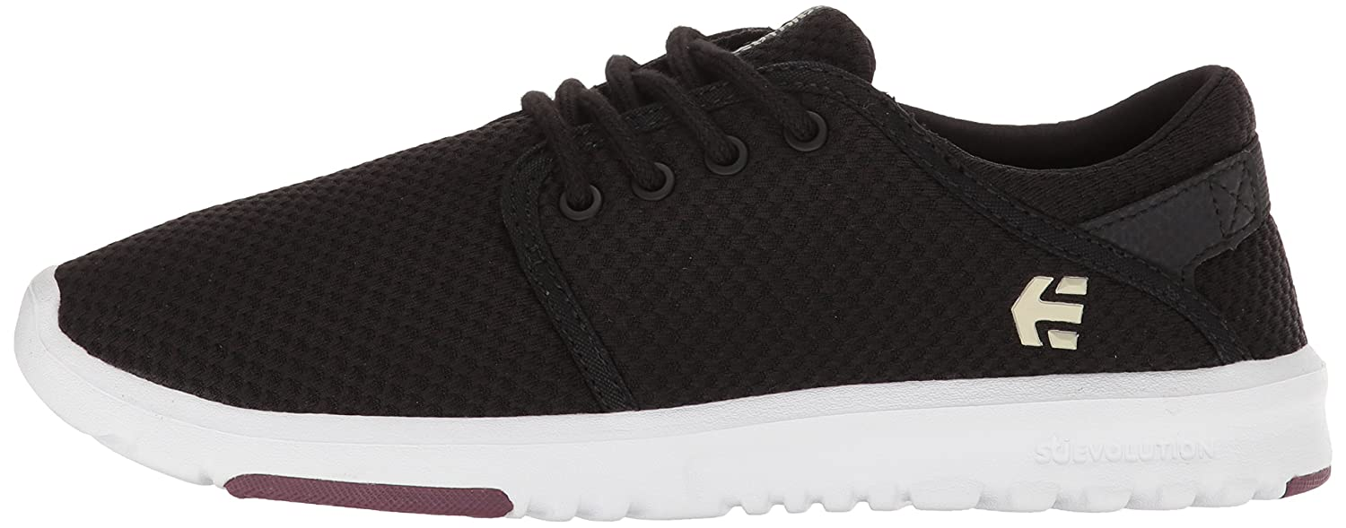 Etnies Women's Scout W's Skate Shoe B074PW2VJ2 9 B(M) US|Black/White/Burgundy