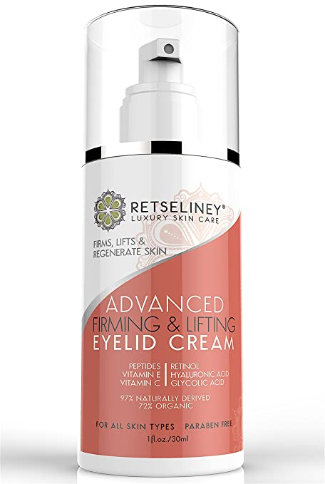 Retseliney - Crema reafirmante y de estiramiento para párpados, reafirma y tonifica la