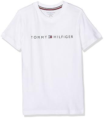 79b3eb041 Tommy Hilfiger Boy's Sn Tee Ss Pyjama Top: Amazon.co.uk: Clothing