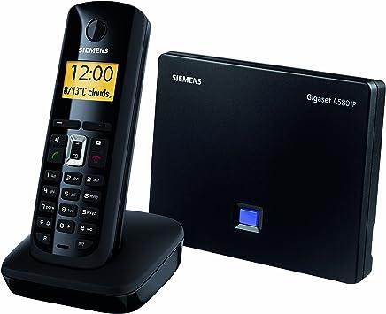 Gigaset A580 IP - Teléfono VoIP inalámbrico (Eco DECT, 2 líneas IP + 1 analógica, sonido HDSP): Amazon.es: Electrónica