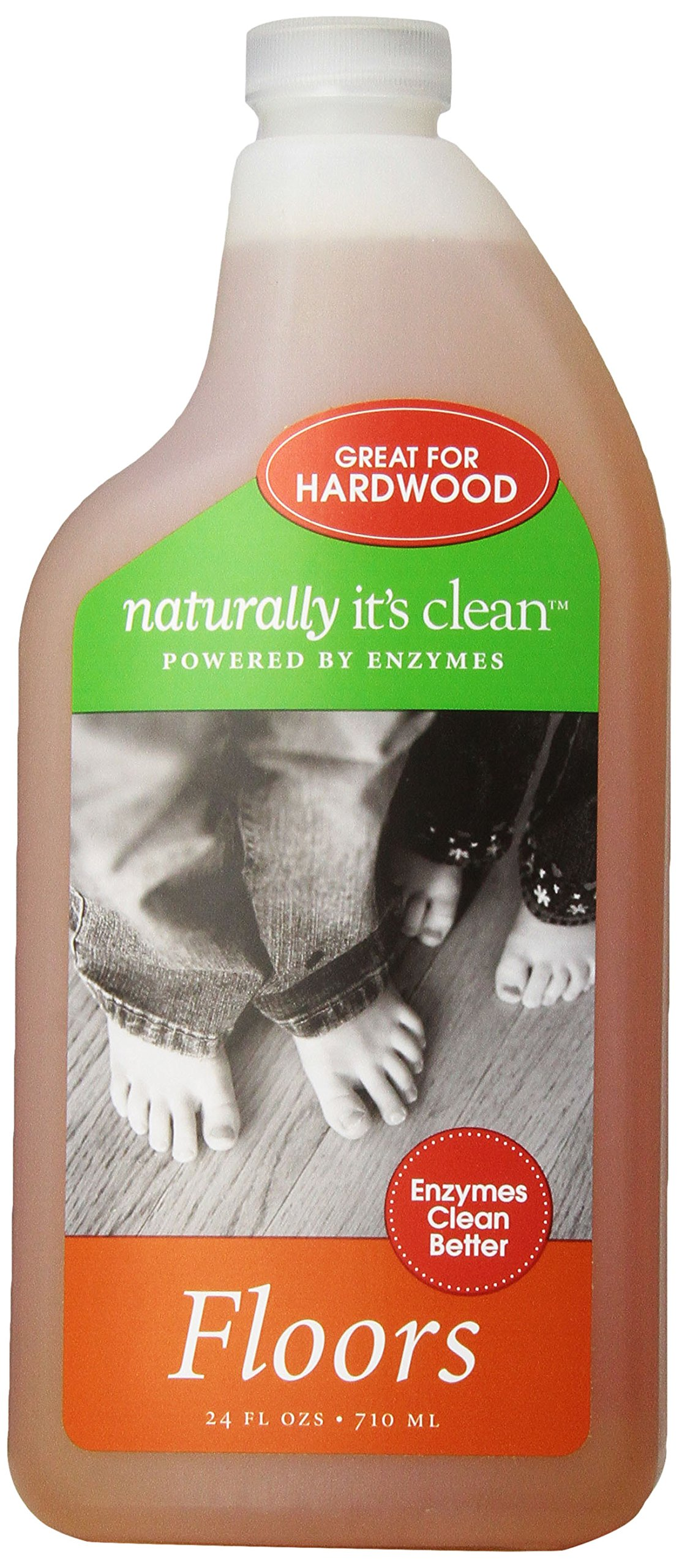 8 Pack Naturally It's Clean Natural Hard Wood All Floor Cleaner Concentrate Bathroom Refill Eco Green Non Toxic Surface All Purpose No Streak 24oz Plant-Based Child Pet Safe Organic Enzyme 24gal