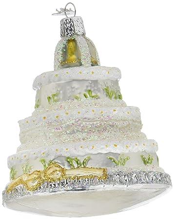 Amazon Com Old World Christmas Wedding Cake Glass Blown Ornament