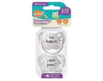 Amazon.com: Ulubulu chupetes 2pk no hablo/que pasa: Baby