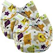 Blueberry Newborn Simplex All in One Cloth Diapers, Bundle of 2, Made in USA (Jungle Jam)